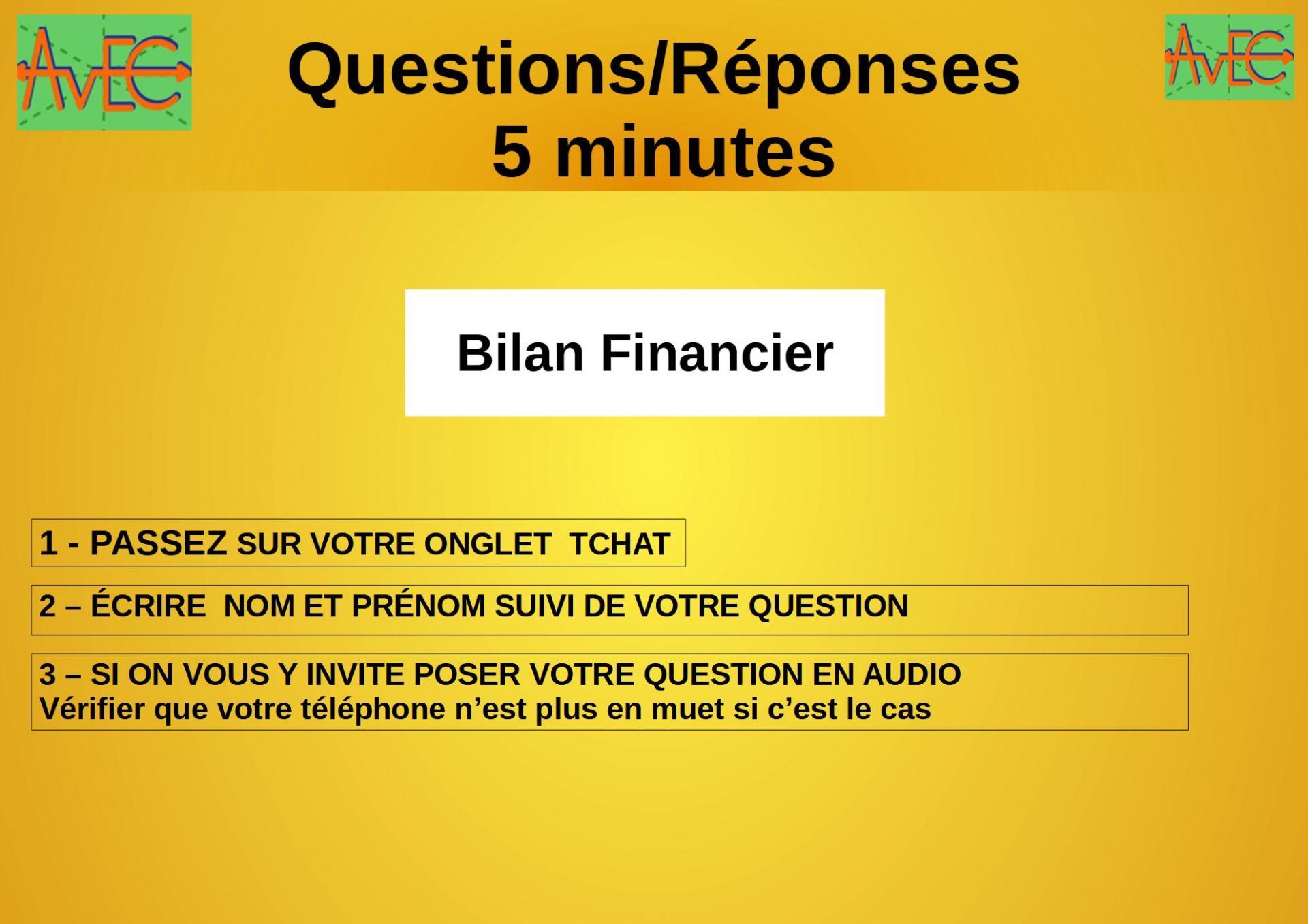 Diapo 11 Questions Bilan financier