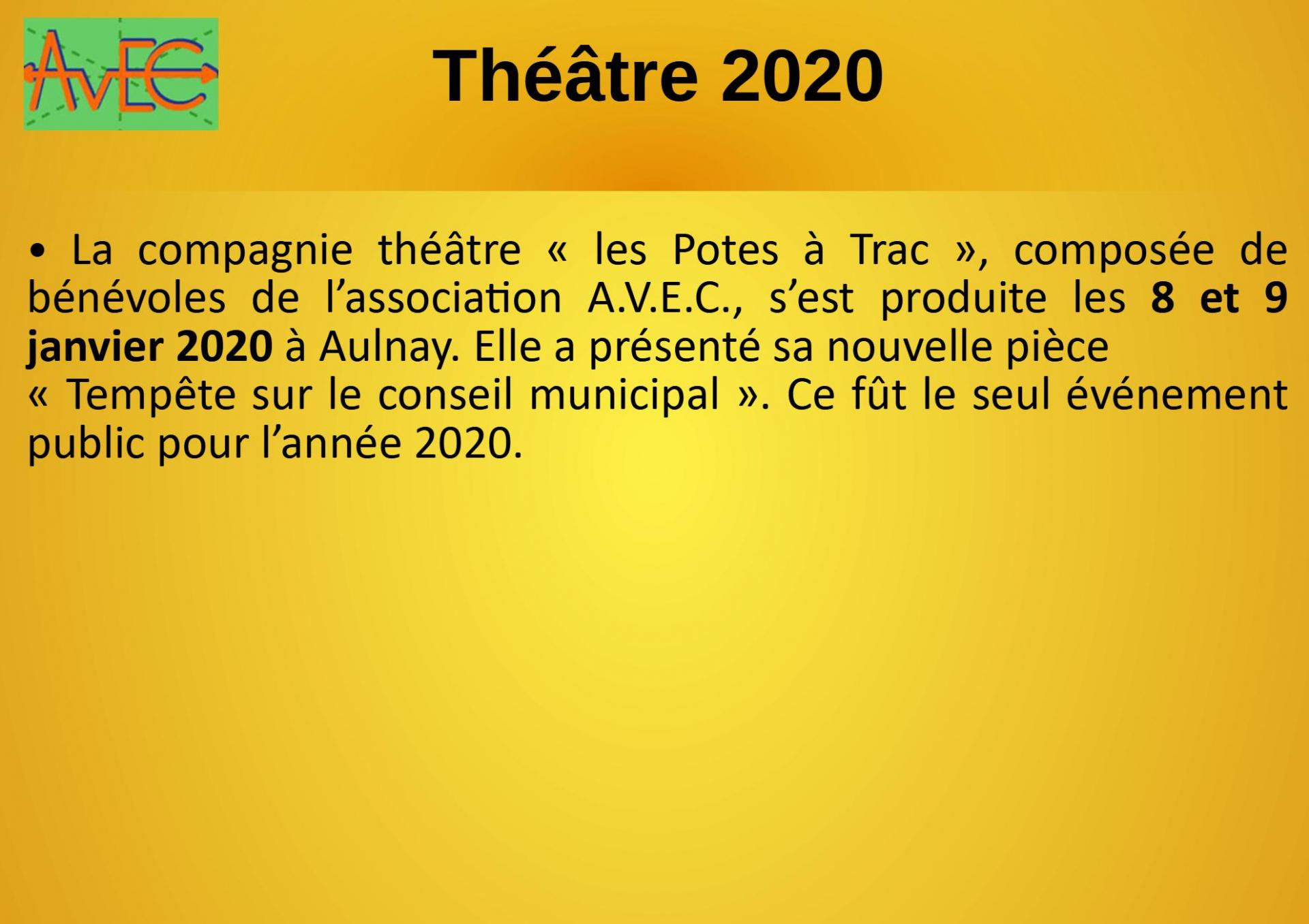 Diapo 8 Bilan Théâtre