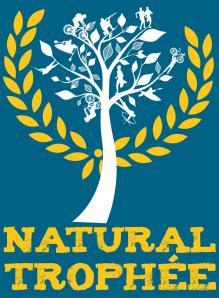 Logo natural fondbleu